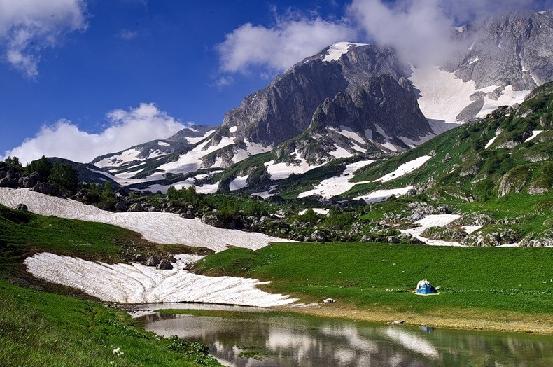 Горный ландшафт Республики Алтай. Автор24 — интернет-биржа студенческих работ