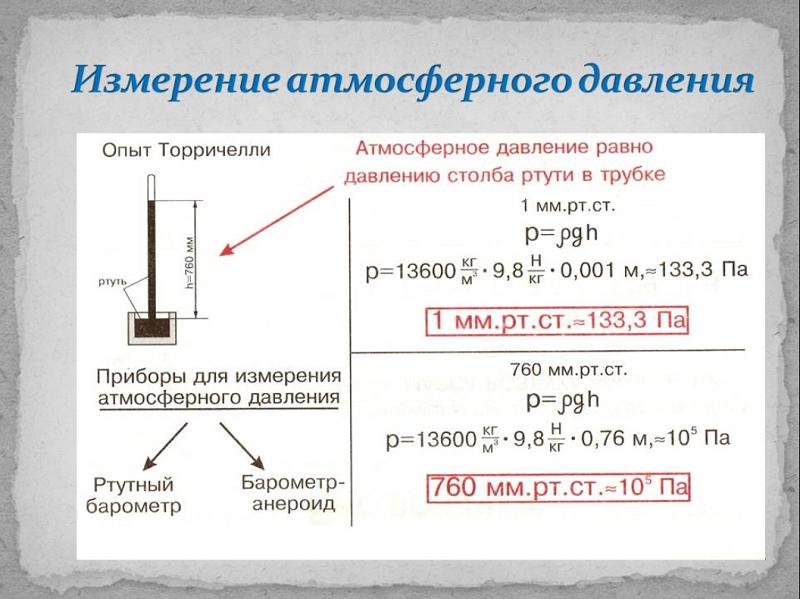 Измерение атмосферного давления. Автор24 — интернет-биржа студенческих работ