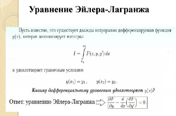 Уравнение Эйлера-Лагранжа. Автор24 — интернет-биржа студенческих работ