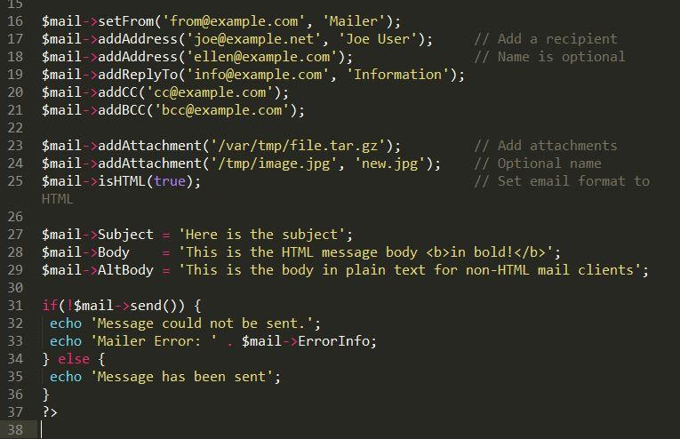 Пример кода на языке PHP. Автор24 — интернет-биржа студенческих работ