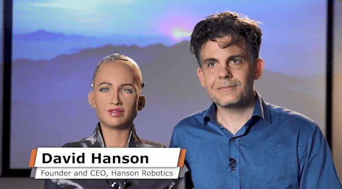 Дэвид Хэнсон и робот София. Автор24 — интернет-биржа студенческих работ