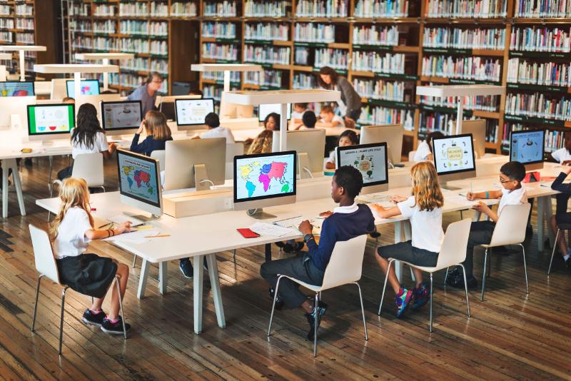Занятия в компьютеризированном классе. Автор24 — интернет-биржа студенческих работ