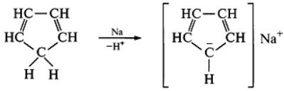 Циклопентадиенилнатрий, содержащий ароматический циклопентадиенил-анион. Автор24 — интернет-биржа студенческих работ