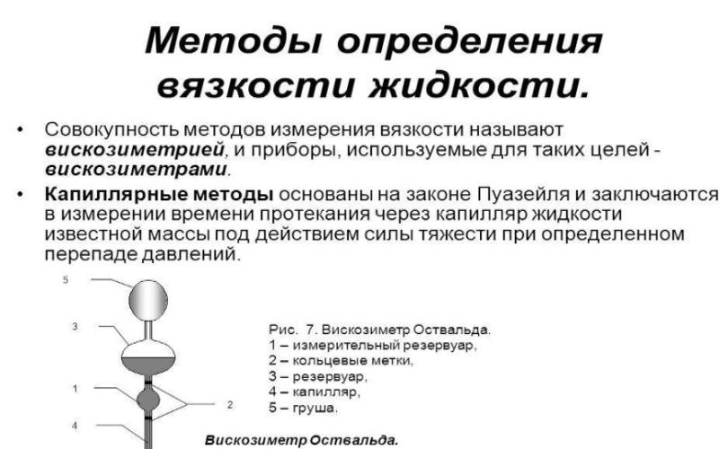 Методы определения вязкости жидкости. Автор24 — интернет-биржа студенческих работ