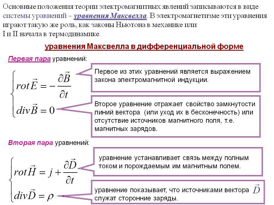 Уравнения Максвелла. Автор24 — интернет-биржа студенческих работ