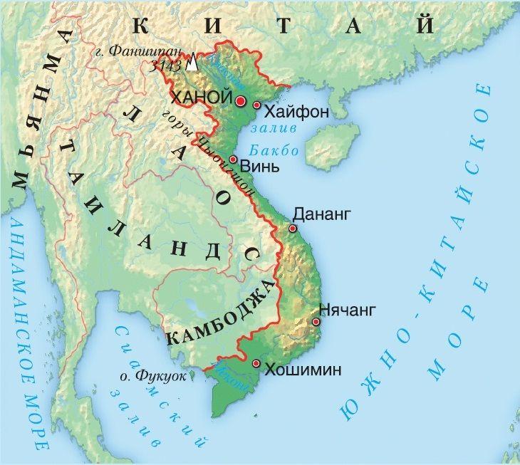 Вьетнам на карте мира. Автор24 — интернет-биржа студенческих работ