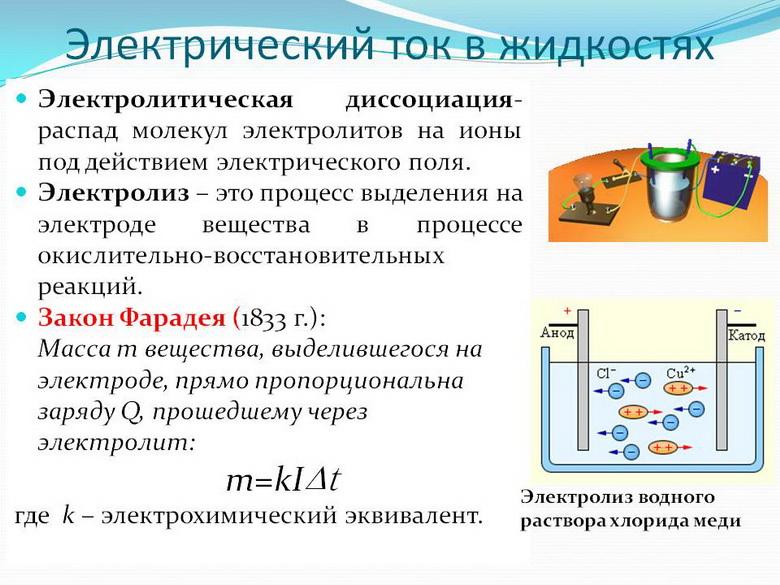 Электрический ток в жидкостях. Автор24 — интернет-биржа студенческих работ