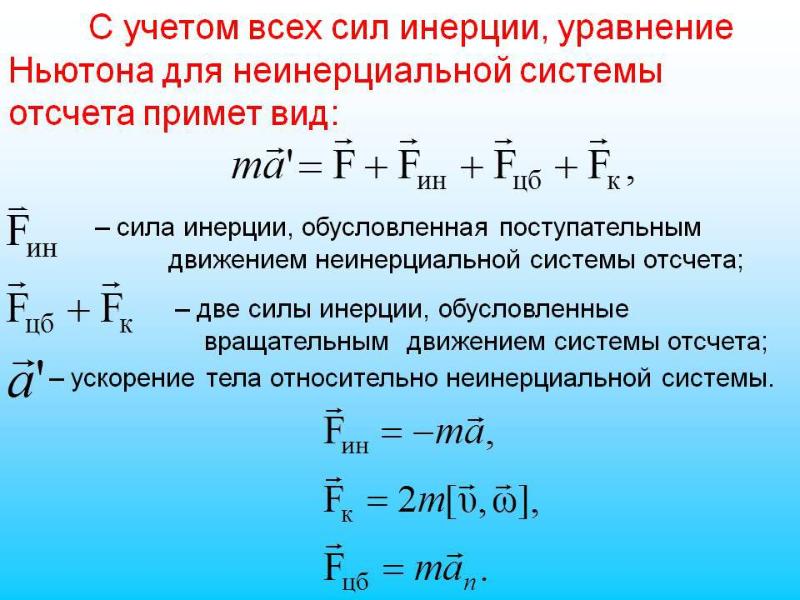Уравнение Ньютона для неинерциальной системы отсчета. Автор24 — интернет-биржа студенческих работ