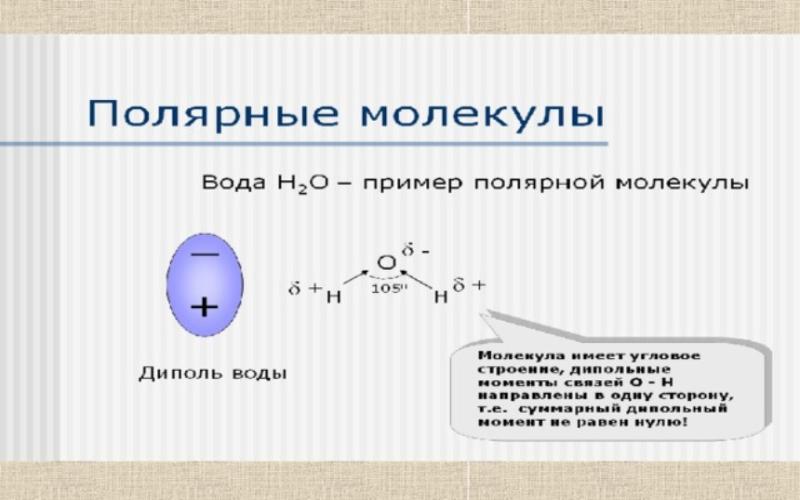 Полярные молекулы. Автор24 — интернет-биржа студенческих работ