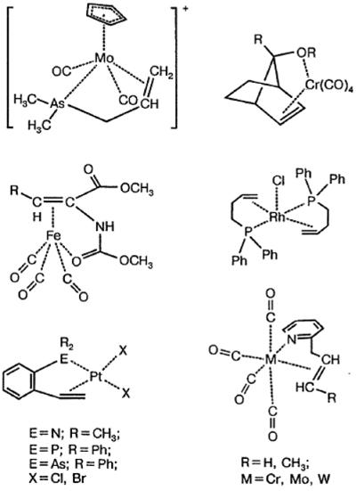 Примеры $\pi$-комплексов металлов с бифункциональными лигандами. Автор24 — интернет-биржа студенческих работ